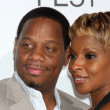 Mary J. Blige and Husband — Stock Photo