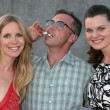 Lauralee Bell, David Eigenberg, Heather Tom — Stock Photo