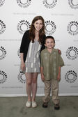 Eden Sher & Atticus Shaffer — Stock Photo