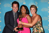 Clean Sweep Team - Mark Brunetz, Niecy Nash & Trish Suhr — Stock Photo