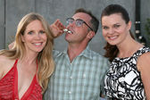 Lauralee Bell, David Eigenberg, Heather Tom — Stock Photo