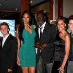 Elycia Turnbow , Frankie Muniz, Kimora Lee, Djimon Hounsou, Kevin Jonas & Wife Danielle — Stock Photo