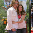 Billy Ray Cyrus &amp; daughter Miley Cyrus - Zdjcie stockowe