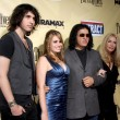 Nick, Sophie and Gene Simmons with Shannon Tweed - Stock Photo