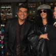 George Lopez, Slash and Wives — Stock Photo