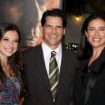 Chris Ciaffa, daughter Lucy Julia Rogers-Ciaffa, Mimi Rogers — Stock Photo