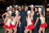 Glendale Firefighters & Santa's Helpers — Stock Photo