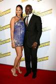 Kimora Lee & Djimon Hounsou — Stock Photo