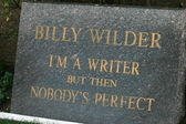 Billy Wilder Grave — Stock Photo