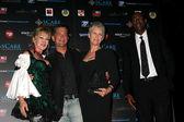 Donna Keegan, Malek Akkad, Jamie Lee Curtis, Jamie Hall — Stock Photo