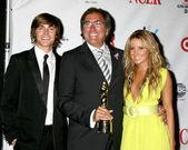 Zac Efron, Kenny Ortega, and Ashley Tisdale — Stock Photo
