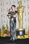 Costume designer Sandy Powell, winner of Best Costume Design awa — Stock Photo