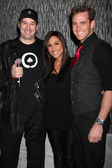 Phil Hellmuth Jr, Leeann Tweeden & Fiance — Stock Photo