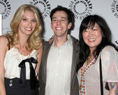 April Bowlby, Josh Berman, Margaret Cho — Foto de Stock