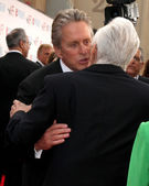 Michael Douglas & Kirk Douglas — Stock Photo