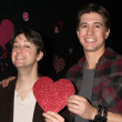 Josh Heine (Cupid), Bradford Anderson (Achilles) — Stock Photo