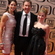 Tim Allen, wife, older daughter — Lizenzfreies Foto