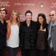 Постер, плакат: Actor Patrick Dempsey wife Jillian Demspey singer K D Lang Joyce Varvatos and designer John Varvatos