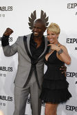 Terry Crews & Wife — Stock Photo