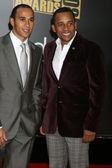 Lewis Hamilton & Hill Harper — Stock Photo