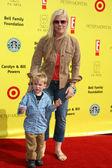 Alison Sweeney & Son — Stock Photo