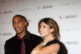 Mehcad Brooks, Elisabetta Canalis — Stock Photo