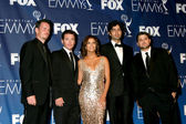 Eva Longoria & the Entourage men — Stock Photo