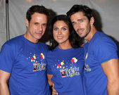 Christian LeBlanc, Nadia Bjorlin, Brandon Beemer — Stock Photo