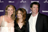 Amanda Tapping, Ben Browder, and Mary McDonnell — 图库照片