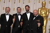 Steven Spielberg , Emile Sherman, Iain Canning, and Gareth Unwin — Stock Photo