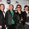 U2 (Larry Mullen Jr, Adam Clayton, Bono and The Edge) - Stock Photo