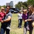 Mark Wahlberg and Rhea Durham with their children Ella Rae Wahlberg and Michael Wahlberg — Stock Photo #13050904