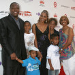 Holly Robinson Peete, Rodney Peete and their children, and Holly's mother Delores — Stock Photo