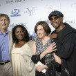 Peter Coyote, Samuel L. Jackson & wives — Stock Photo