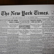 Newspaper from Birth Day in 1909 — Stock Photo