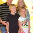 Scott Martin ,  Lauralee Bell with their children - Stock Photo