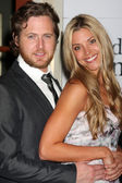Aj Buckley and his girlfriend — Stock Photo