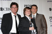 Charlie Sheen, Jon Cryer and Angus T. Jones — Stock Photo