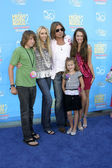 Billy Ray, Miley Cyrus, with family — Stock Photo