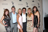 Tracey Bregman, Billy Miller, Sharon Case, Christian LeBlanc, Maria Bell, Stacy Hadiuk — Stock Photo
