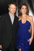 Jerry Bruckheimer & Melina Kanakaredes — Stock Photo