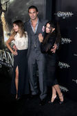 Zoe Kravitz, Jason Momoa and Lisa Bonet — Stock Photo