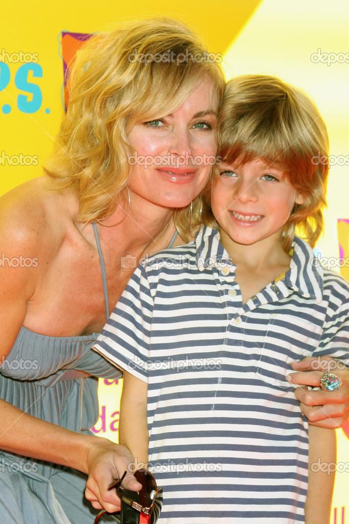 Eileen Davidson & Son Jesse Van Patten – Stock Editorial