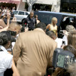 Paris Hilton arriving at Kitson, with fans &amp; Press - Stock Photo