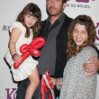 Dylan McDermott & Daughters Colette & Charlotte - Stock Photo