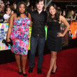 Amber Riley, Chris Colfer, Jenna Ushkowitz - Stock Photo