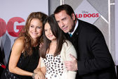 Kelly Preston, Ella Bleu Travolta, John Travolta — Stock Photo
