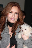 Tracey Bregman, and dog in training Hazel — Stock Photo