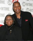 Mark Curry and mother — Stock Photo