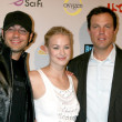 Zach Levi & Yvonne Strahovski & Adam Baldwin  — Stock Photo